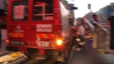 Şişli Emekli Subay Evlerinde korkutan yangın