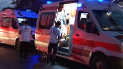 Başakşehir Kayaşehir'de bulunan çorap fabrikasında yangın. Yangına 6 ilçeden itfaiye ekibi sevk edildi.