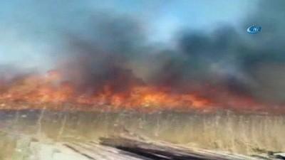 Hastane arazisindeki ot yangını korkuttu