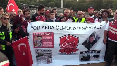 Motosikletçilerden trafikte farkındalık eylemi - İSTANBUL
