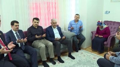 TBMM Başkanı Yıldırım, Şırnak şehidinin ailesini ziyaret etti
