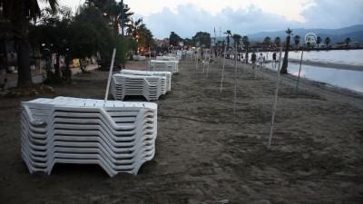 Akyaka'da deniz suyu 20 metre çekildi - MUĞLA