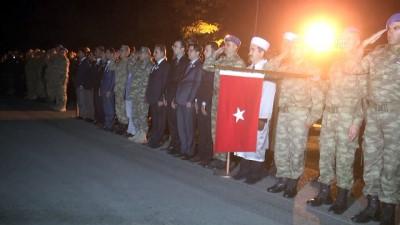 Irak'ın kuzeyinde şehit olan asker için tören düzenlendi - HAKKARİ