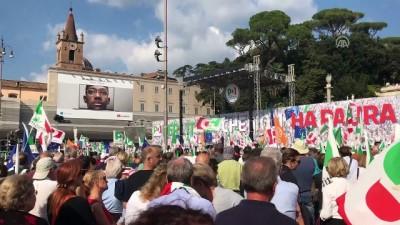 İtalya'da hükümet karşıtı büyük miting - ROMA