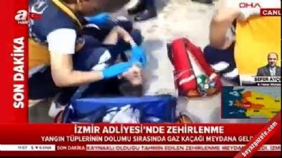 İzmir Adliyesi'nde gaz zehirlenmesi... Olay yerinden ilk görüntüler