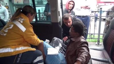 Beyoğlu'nda İETT otobüsü önündeki araca çarptı: 1 yaralı