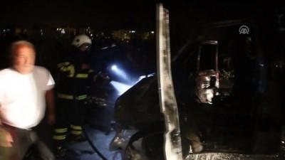 Hatay'da seyir halindeki araç yandı - HATAY