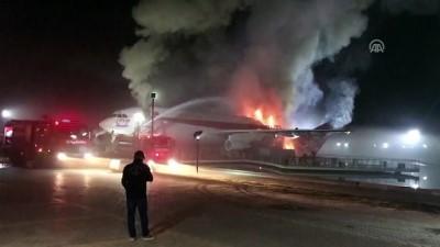 Konya'da uçak restoranda yangın