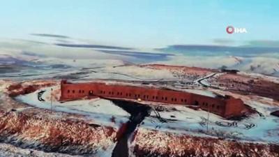 Beyaz örtü ile kapanan Erzurum havadan görüntülendi