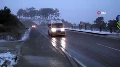 Çanakkale'nin yüksek kesimlerinde kar yağışı başladı