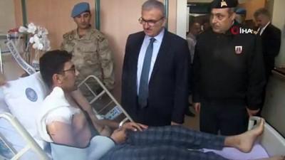 Vali Karaloğlu'ndan yaralı askerlere ziyaret
