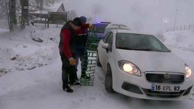 Kütahya'da kar yağışı