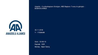 Cumhurbaşkanı Erdoğan, ABD Başkanı Trump ile görüştü - BUENOS AIRES