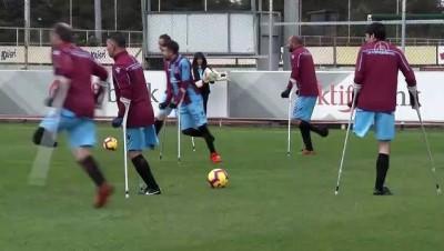 Trabzonspor ile ampute takımı hazırlık maçı yaptı - TRABZON