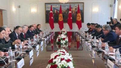 TBMM Başkanı Yıldırım, Kırgızistan Meclis Başkanı Cumabekov ile görüştü - BİŞKEK