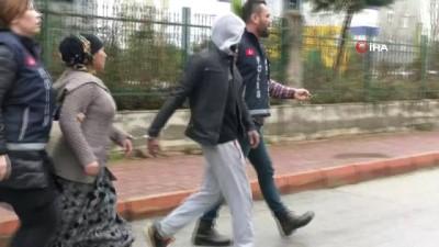 Akü hırsızı karı koca polisten kaçamadı