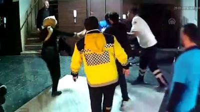 Sağlık çalışanına şiddet güvenlik kamerasında - KARAMAN