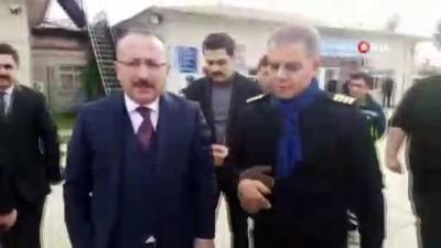 Vali Atik, havaalanında incelemede bulundu