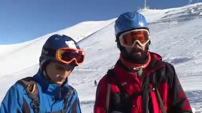 Kayağın adresi Palandöken'de yamaç paraşütü keyfi - ERZURUM