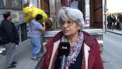 Şişli'de yıkılma tehlikesi nedeniyle boşaltılan binanın çevresinde önlem alındı