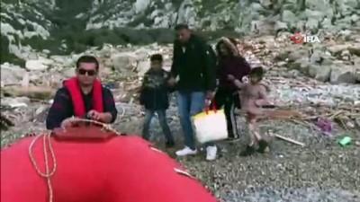 Mahsur kalan mülteciler böyle kurtarıldı