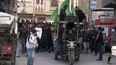 Gazze şehitlerini uğurladı - HAN YUNUS