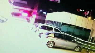 Cani kocanın pompalı tüfekle vurduğu karısını hastane önüne bırakıp kaçtı... O anlar kamerada