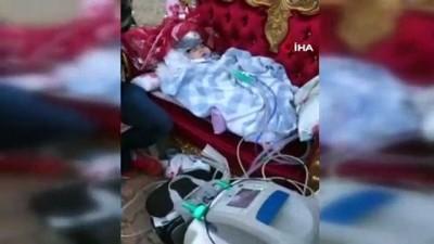 SMA hastası Uğur sünnet düğününe solunum cihazlarıyla getirildi