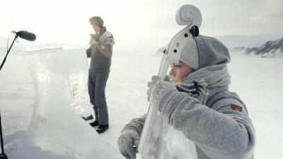 Norveçli müzisyenlerden buzdan enstrümanlarla okyanuslar için konser