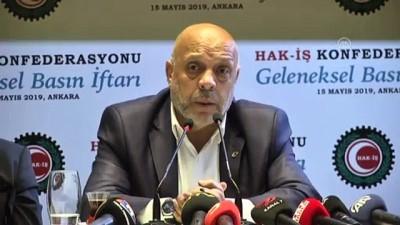 Hak-İş Başkanı Arslan: 'Filistinli kardeşlerimizle dayanışma içerisindeyiz' - ANKARA