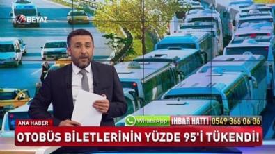 Otobüs biletlerinin yüzde 95'i tükendi
