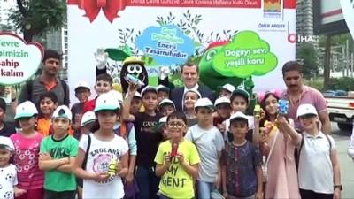 Çevre Haftası etkinliklerinde çocuklar hem eğlendi hem öğrendi