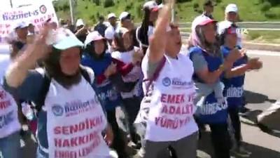 Hak - İş Konfederasyonu'nun Bolu - Ankara yürüyüşünde üçüncü gün sona erdi