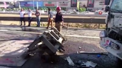 Tem otoyolu Kurtköy mevkiinde zincirleme trafik kazası: 1 yaralı