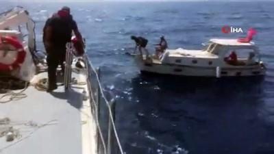 - Yunan adalarına sürüklenen Türk teknesini Sahil Güvenlik ekipleri kurtardı