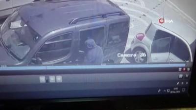 Sivas'ta yakalanan hırsızların soygun anı kamerada