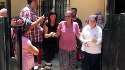 Tavanı göçen evde anne oğul yaralandı - MERSİN