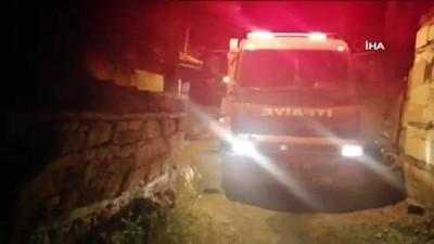 Çan'da iki katlı evde yangın