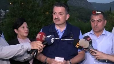 """Bakan Pakdemirli: """"Yangında mahsur kalan 5 personelin sağlık durumu iyi"""""""