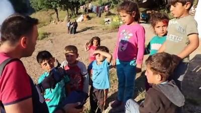 İlk defa drone gören çocukların mutluluğu kameraya böyle yansıdı