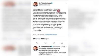 Sağlık Bakanı Fahrettin Koca'dan Elif bebeğin sağlık durumuna ilişkin açıklama