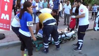 İşyerinin önünde silahlı saldırıya uğradı