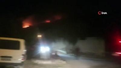 Aydın'da yangın...Makilik alanda başlayan yangın ormana doğru ilerliyor