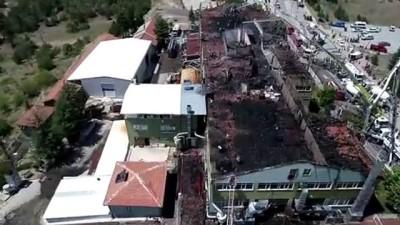 Silah fabrikasındaki yangın - drone görüntüsü - KONYA