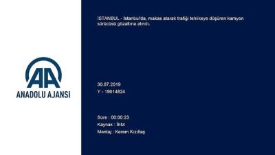 Trafiği tehlikeye düşüren sürücü gözaltına alındı - İSTANBUL
