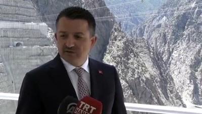 Pakdemirli, Yusufeli Barajı ve HES inşaatında incelemelerde bulundu - ARTVİN