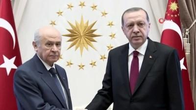 Cumhurbaşkanı Recep Tayyip Erdoğan, MHP Genel Başkanı Devlet Bahçeli ile görüşecek