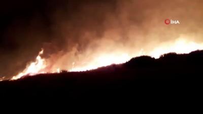Samandağ'da tarihi yerde korkutan yangın