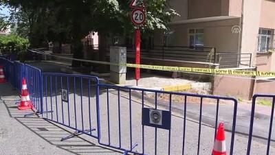 Sarıyer'de kolonları patlayan bina tahliye edildi - İSTANBUL