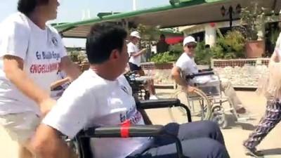 Tekerlekli sandalyeye binerek 'engelleri' tespit etti - MUĞLA